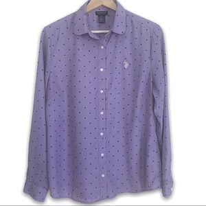 U.S. Polo Assn Polka Dot Purple Button Down